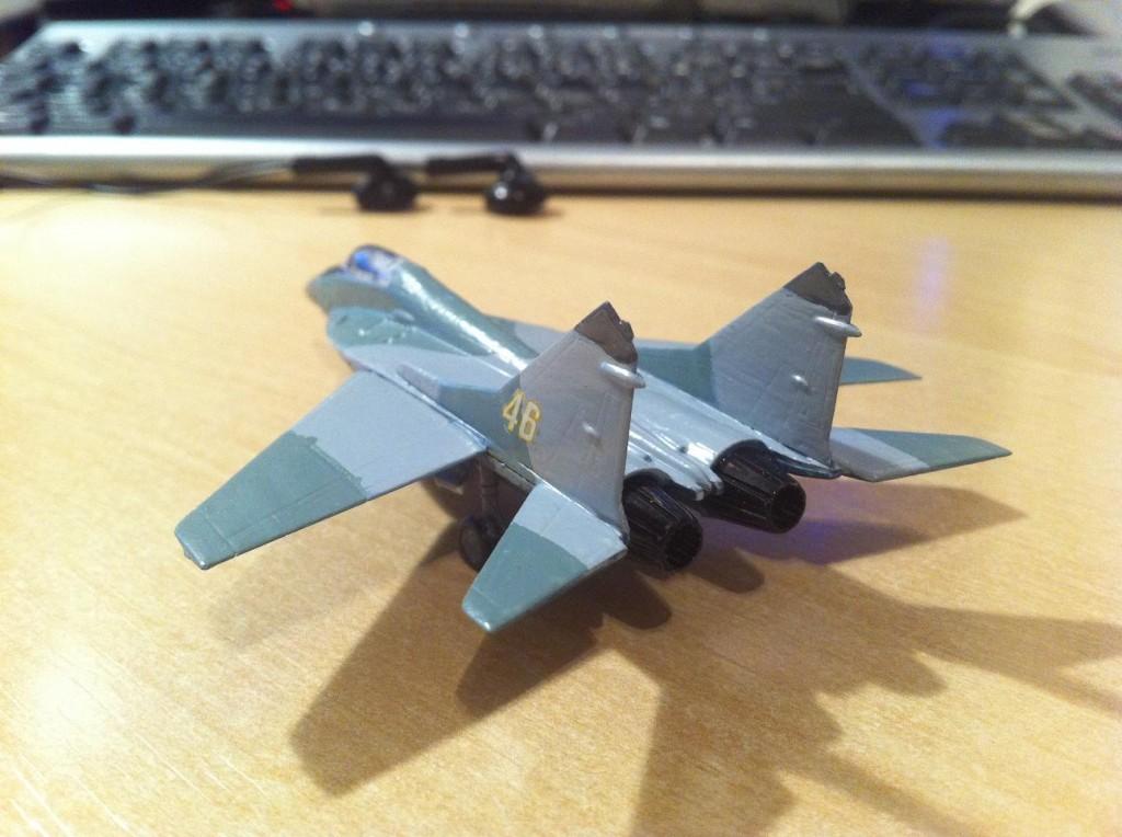 Mig29 Fulcrum plastic model #1