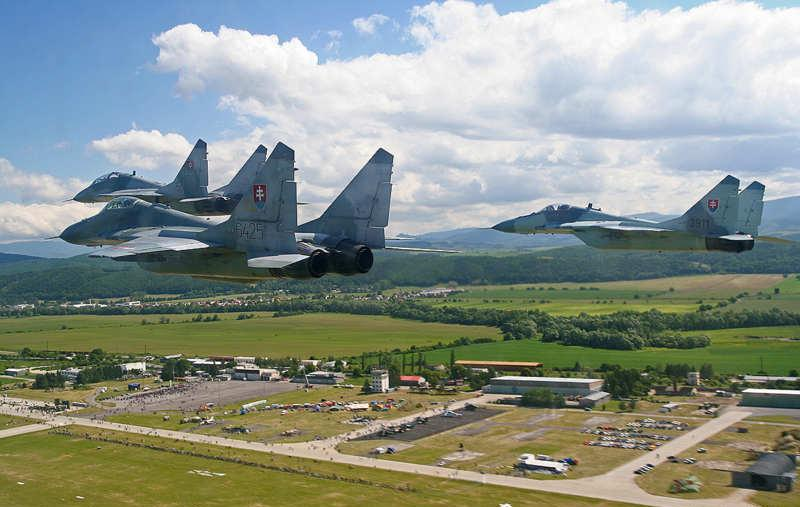 Mig29 Slovak AirForce Flying in Formation over Air Festival