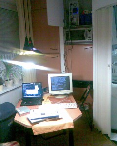 "Debugging nights in my ""server room"""
