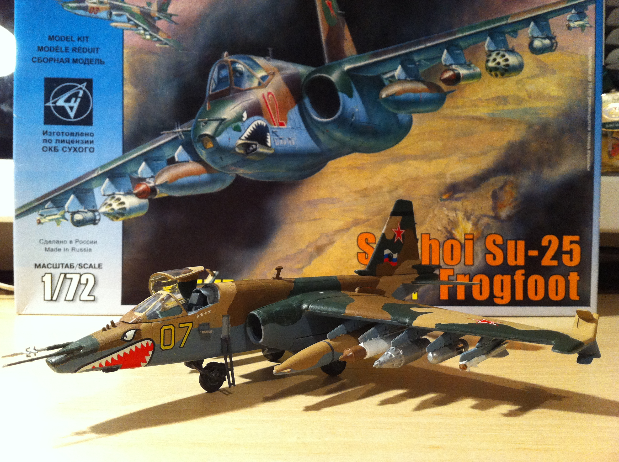Zvezda 1/72 Sukhoi Su-25 plastic model 1