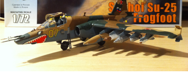 "Zvezda Sukhoi Su-25 ""Frogfoot"" model"
