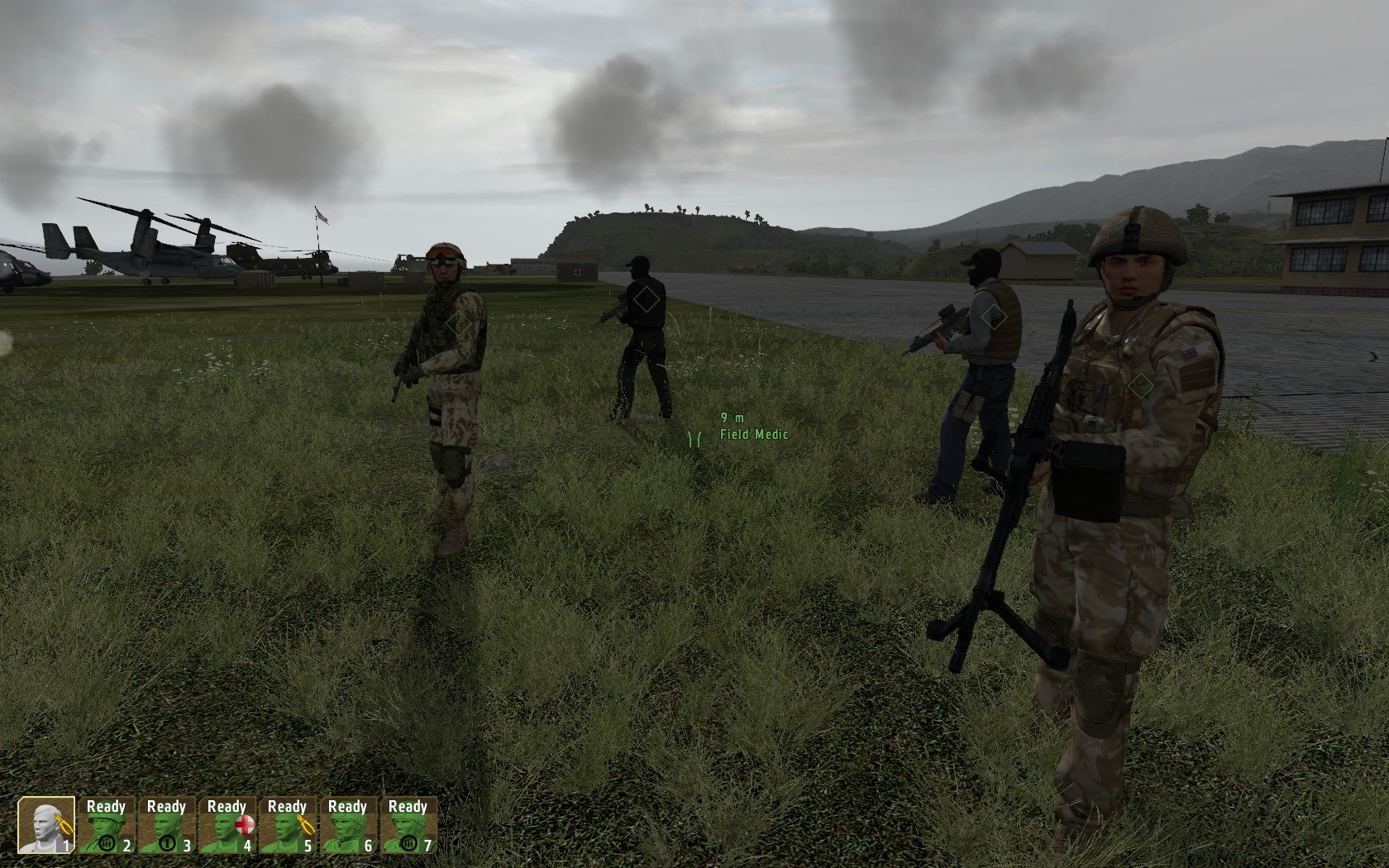 Various infantry AI squadmates available at base (version 05)