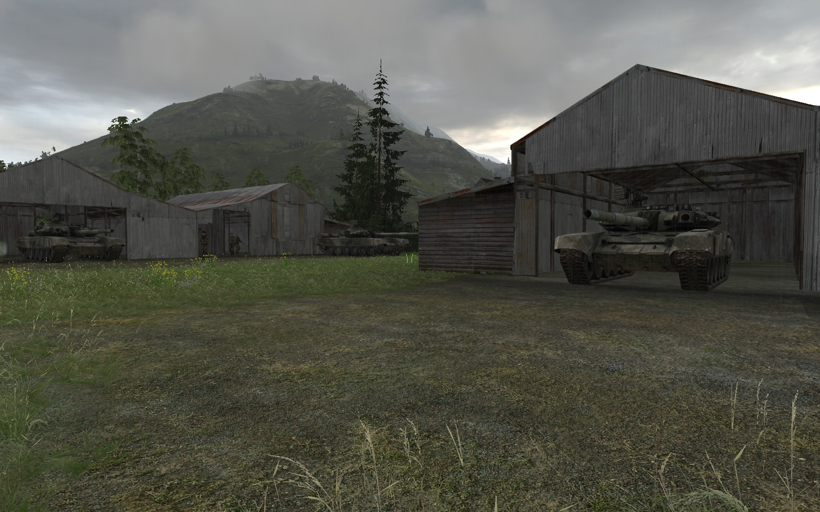 Side mission: Destruction of heavily protected enemy tank depot behind enemy lines.