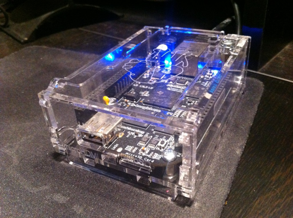 BeagleBone Black in transparent case