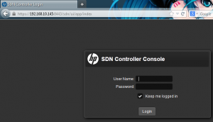 SDN Login Screen