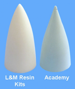 Vanilla Academy nose vs. replacement part nose