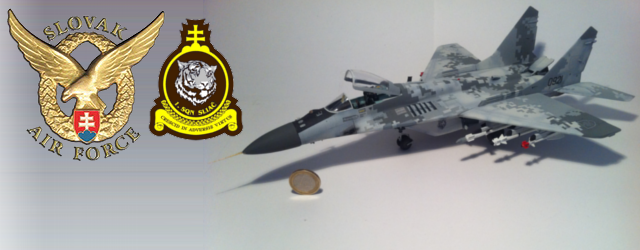 Slovak Air Force MiG-29 with 2008 Digital Camoflage, 1/48