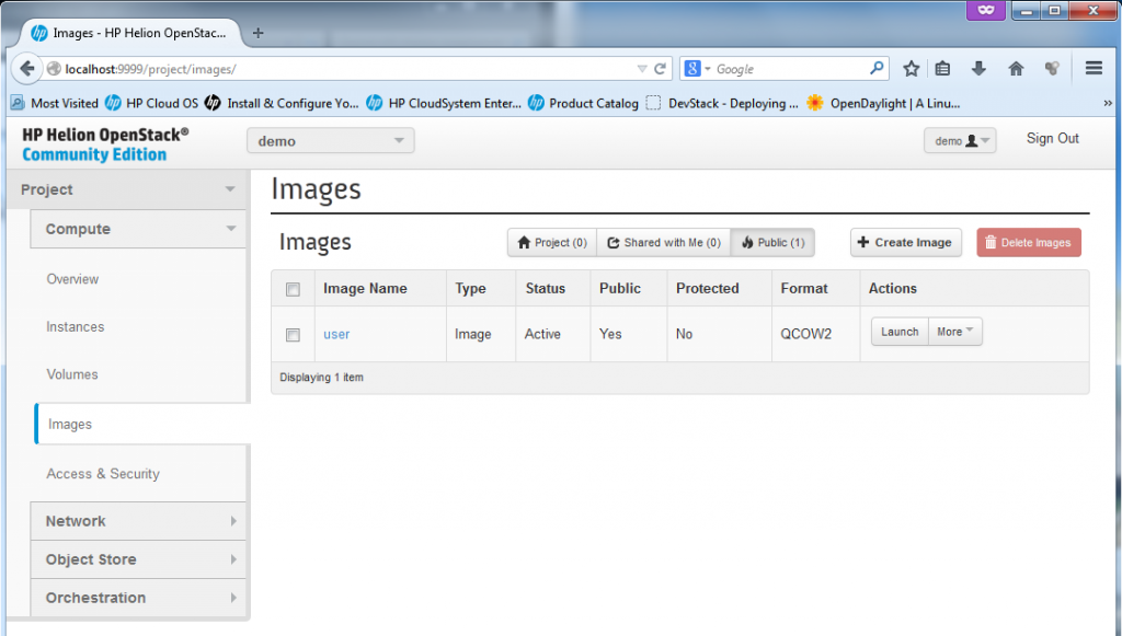 "The images section enables management of ""template"" images for new VM creation"