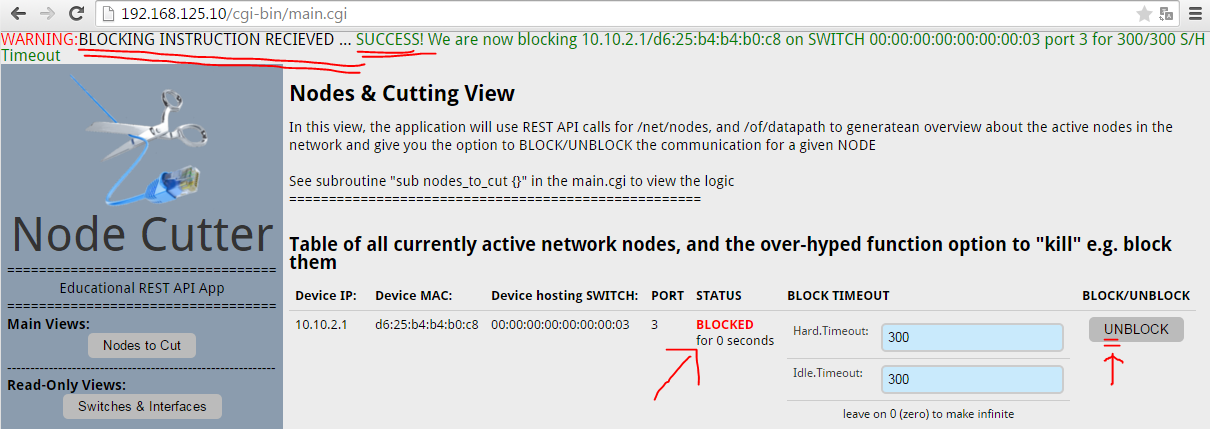 Node Cutter - v0.1 Nodes to Cut view, recieved blocking request and successfully moved node to blocking state
