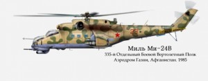 The Mil Mi-24 (Russian: Миль Ми-24; NATO reporting name: Hind) is a large helicopter gunship and attack helicopter and low-capacity troop transport with room for eight passengers. It is produced […]