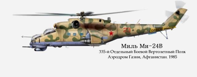 Soviet Mi-24V Hind E, 1/72 scale