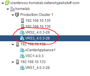 Two VRSs in cluster